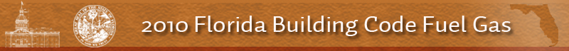 2010 Florida Building Code Fuel Gas Code Banner