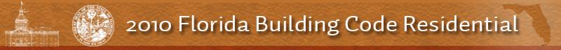 2010 Florida Building Code Residential Code Banner